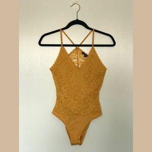 Mustard Lace Bodysuit